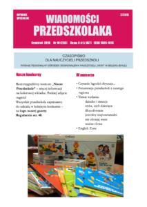 Okładka Wiadomości Przedszkolaka z grudnia 2018 r.