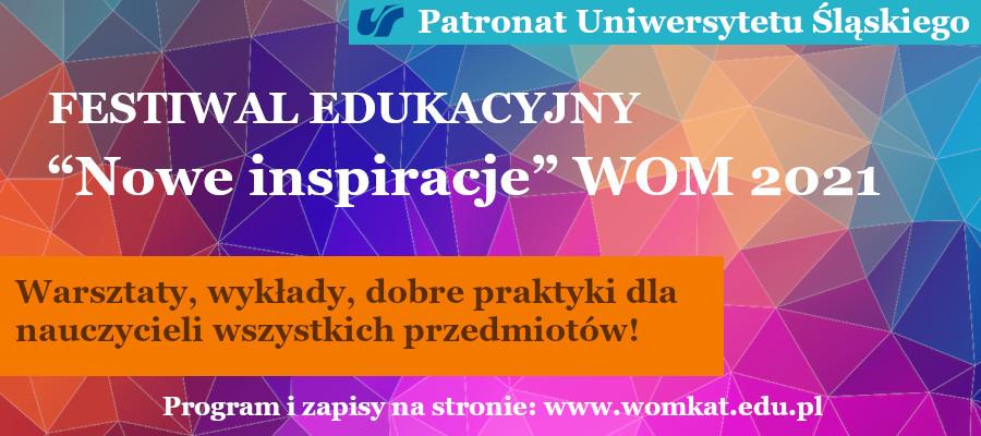 Festiwal edukacyjny Nowe Inspiracje WOM 2021